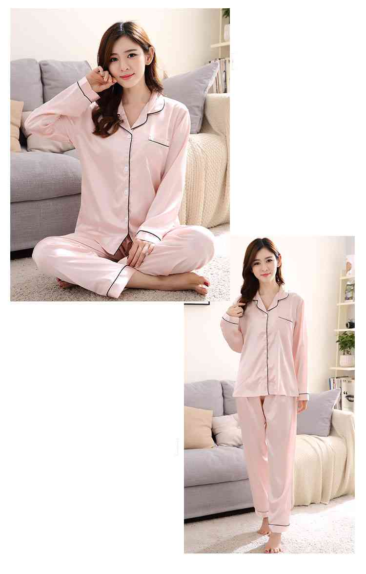 Silk Mother and Daughter Family of Three Outfit Ice Silk Parent-child Pajamas on sale 11