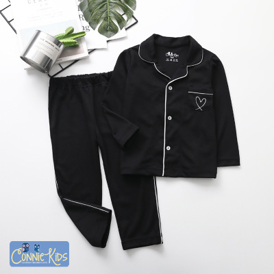 Autumn and winter long-sleeved cotton home service parent-child Family pajamas on sale