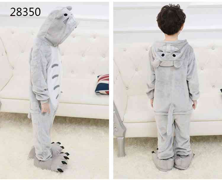 Cartoon animal one-piece pajamas dinosaur unicorn parent-child autumn and winter flannel home service wholesale on sale 6