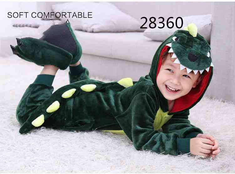 Cartoon animal one-piece pajamas dinosaur unicorn parent-child autumn and winter flannel home service wholesale on sale 9