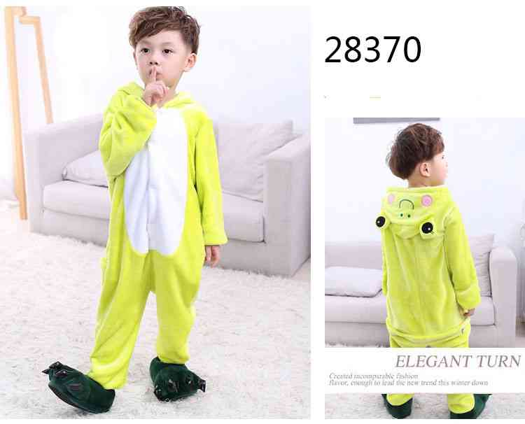Cartoon animal one-piece pajamas dinosaur unicorn parent-child autumn and winter flannel home service wholesale on sale 12