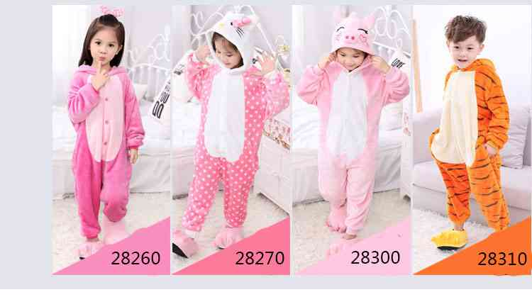 Cartoon animal one-piece pajamas dinosaur unicorn parent-child autumn and winter flannel home service wholesale on sale 14