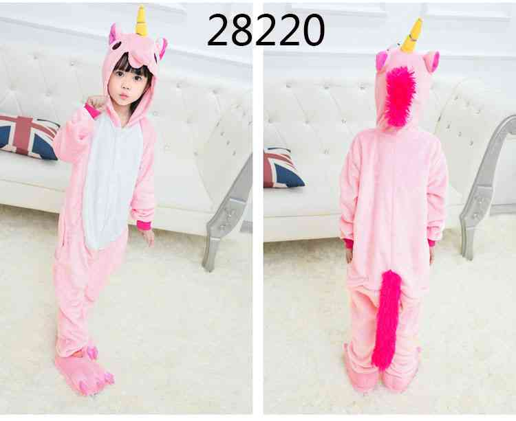 Cartoon animal one-piece pajamas dinosaur unicorn parent-child autumn and winter flannel home service wholesale on sale 16