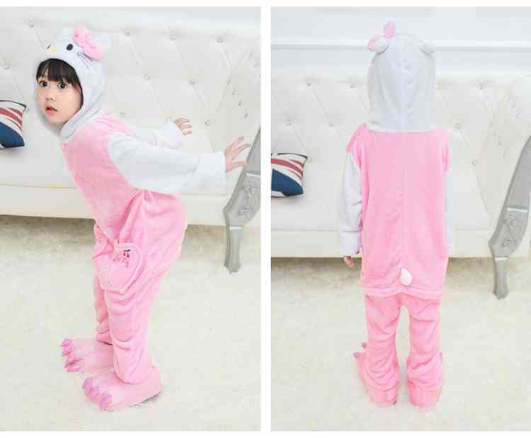 Cartoon animal one-piece pajamas dinosaur unicorn parent-child autumn and winter flannel home service wholesale on sale 18