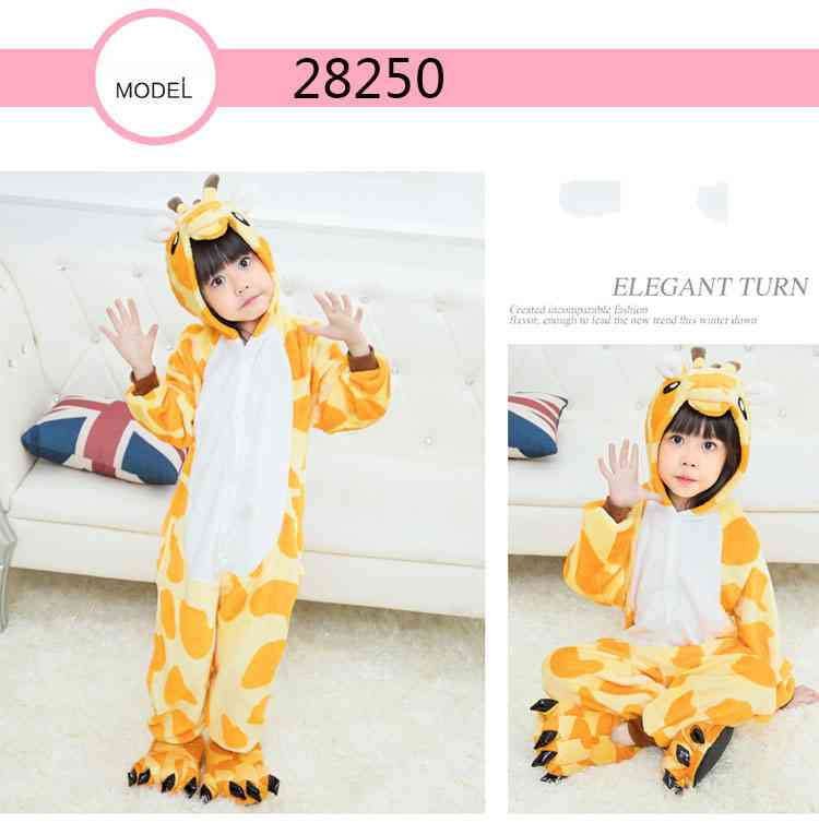 Cartoon animal one-piece pajamas dinosaur unicorn parent-child autumn and winter flannel home service wholesale on sale 20