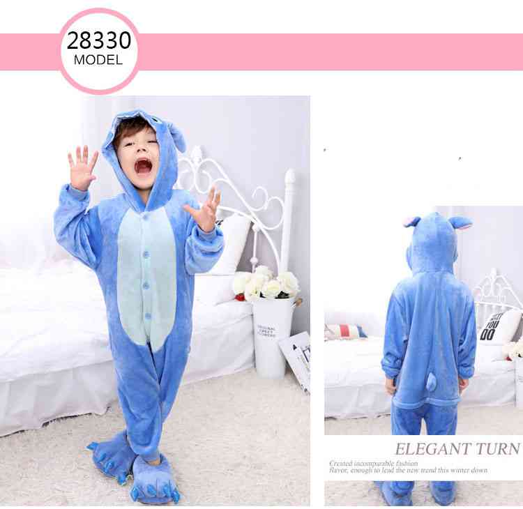 Cartoon animal one-piece pajamas dinosaur unicorn parent-child autumn and winter flannel home service wholesale on sale 3