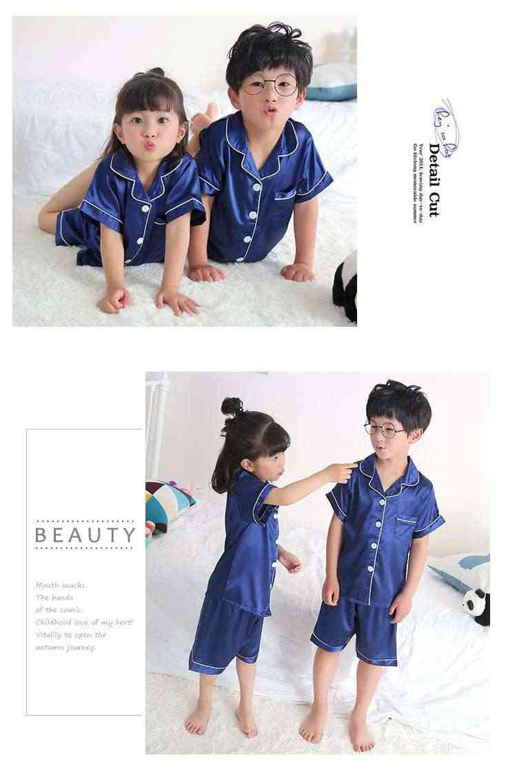 Short-sleeved casual family Suit Ice Silk Couple Home Service on sale 9