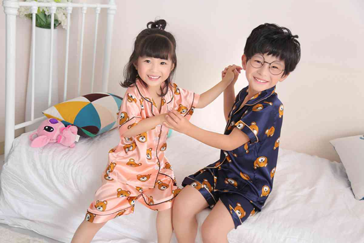 Short-sleeved casual family Suit Ice Silk Couple Home Service on sale 5