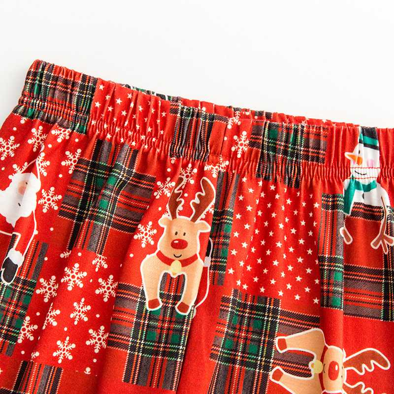 Christmas pajamas family with European and American parent-child wear on sale 8