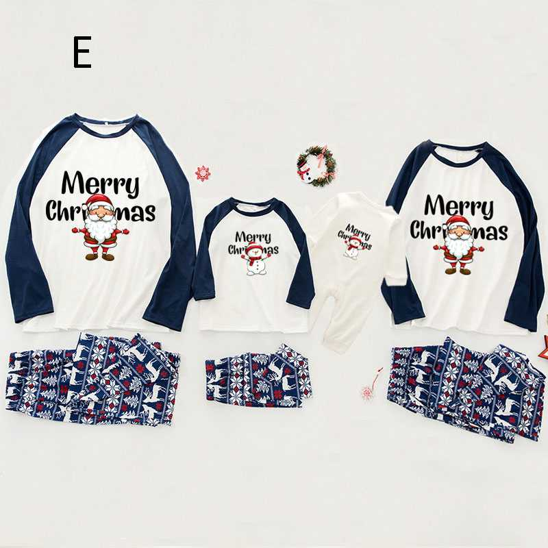 Christmas pajamas family with European and American parent-child wear on sale 11