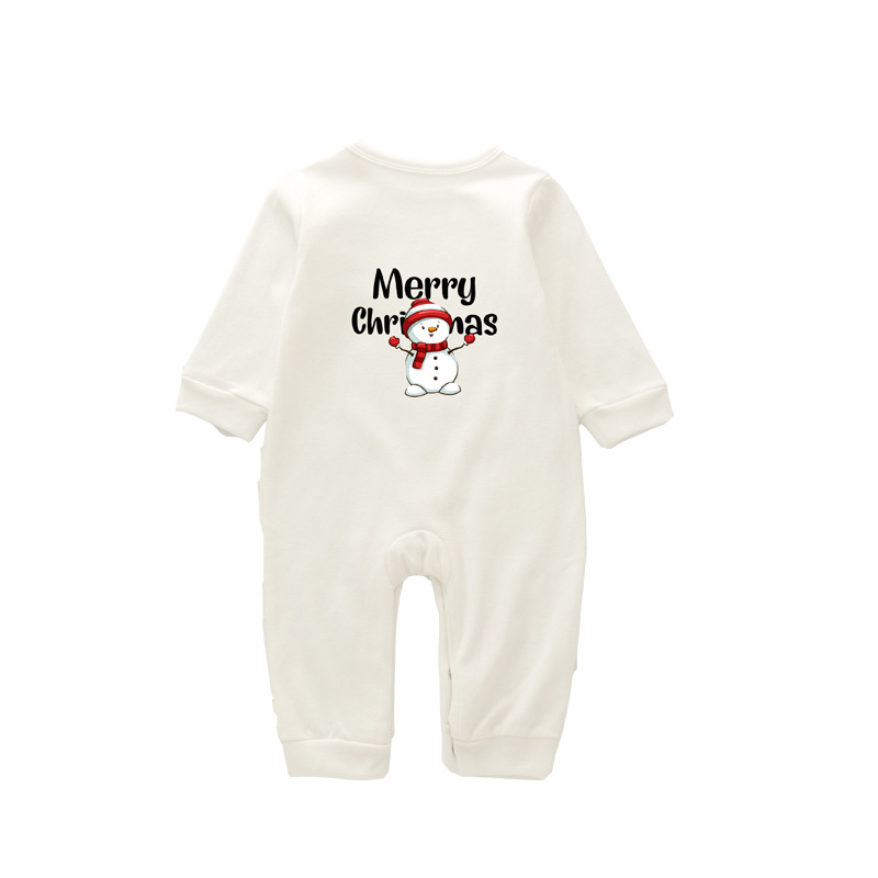 Christmas pajamas family with European and American parent-child wear on sale 12