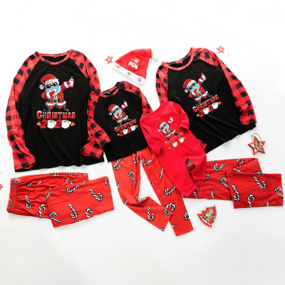 Christmas gift letter printing epidemic element family matching pajamas set on sale 7