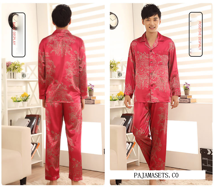 men satin pajamas