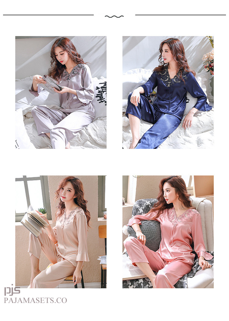 women satin pajamas