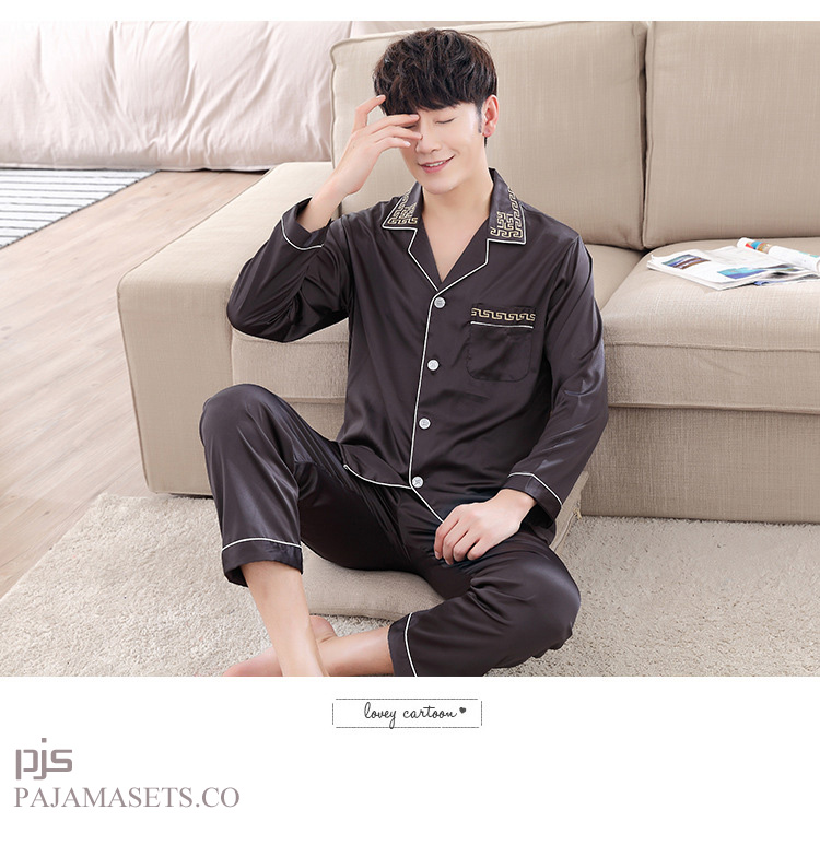 men silk pajamas