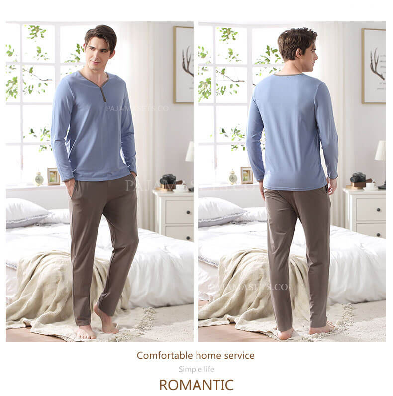 men cotton pajama sets