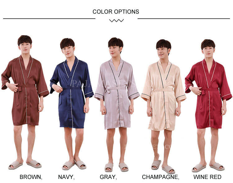 men silk pajama sets
